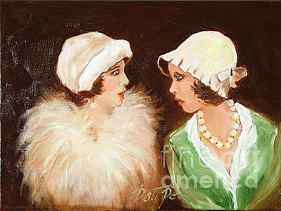 Painting - Two Gossiping Women by Pati Pelz