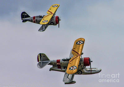 F3f Photograph - Two Grummans by Tommy Anderson