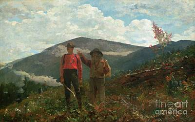 Axe Painting - Two Guides by Winslow Homer