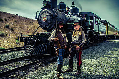 Outlaw Photograph - Two Gunfighters by Garry Gay