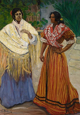 Painting - Two Gypsies by Francisco Iturrino