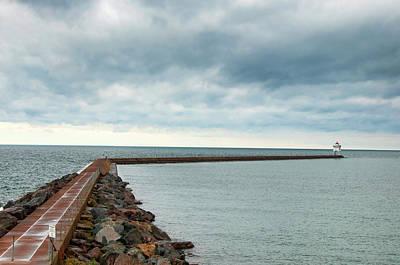 Photograph - Two Harbors Breakwater by Steve Stuller