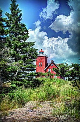 Photograph - Two Harbors Lighthouse by Deborah Klubertanz