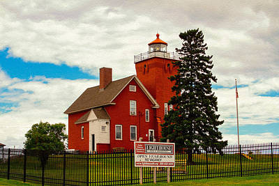 Photograph - Two Harbors Lighthouse Of Minnesota by Bonnie Follett