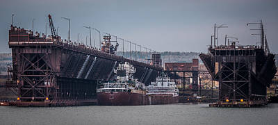 Arrow Head Photograph - Two Harbors Ore Docks by Paul Freidlund