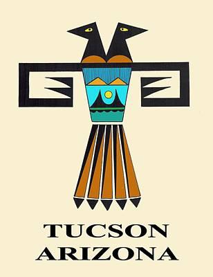 Digital Art - Two-headed Bird Tucson, Az by Vagabond Folk Art - Virginia Vivier