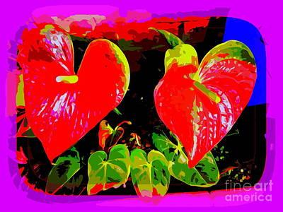 Digital Art - Two Hearts by Ed Weidman