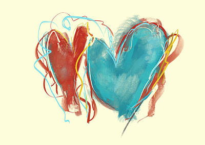 Painting - Two Hearts by Jai Johnson