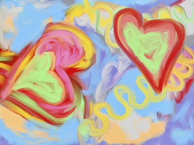 Mixed Media - Two Hearts by Susan Stone