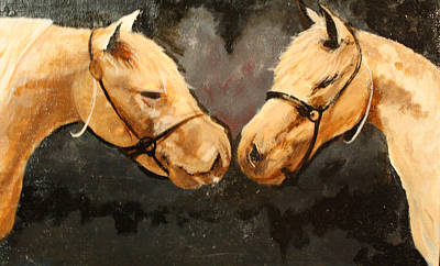 Two Horse Art Print by Shannon Rains