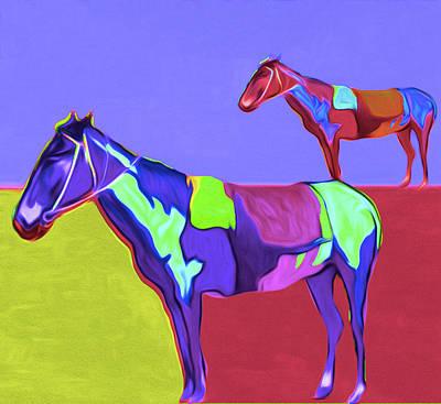 Two Horses By Nixo Art Print