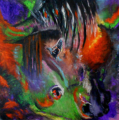 Painting - Two Horses by Maris Sherwood