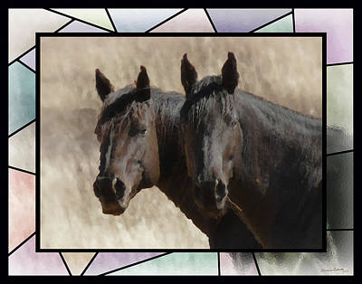 Photograph - Two Horses Stained Glass 2 by Ernie Echols