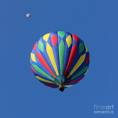 Photograph - Two Hot Air Balloons Square by Karen Adams