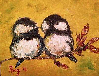 Animals Painting - Two Hot Chicks by Roxy Rich