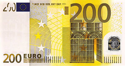 Digital Art - Two Hundred Euro Bill by Serge Averbukh