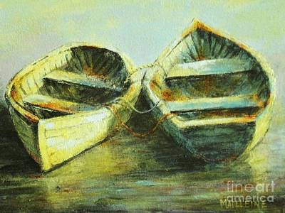Two In A Row Art Print by Madeleine Holzberg