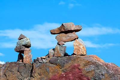 Inukshuk Photograph - Two Inukshuk by Ivan SABO