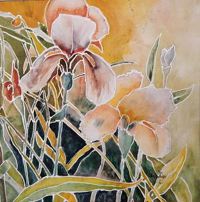 Painting - Two Irises by Paula Day