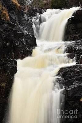 Two Island River Waterfall Art Print by Larry Ricker