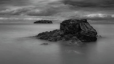 Infrared Photograph - Two Islands, Lake Superior by John Emery