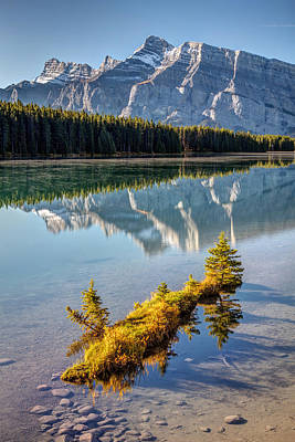 Photograph - Two Jack Lake Island by Pierre Leclerc Photography