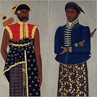 Painting - Two Javanese Court Officials Collage by Vincent Monozlay