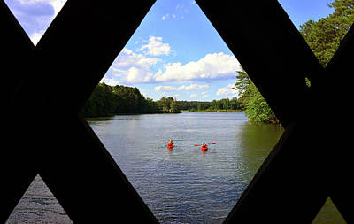 Photograph - Two Kayaking by David Lee Thompson