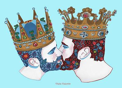 Queer Drawing - Two Kingdoms  by Vilela Valentin