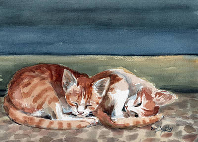 Painting - Two Kittens by Mimi Boothby
