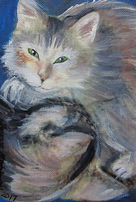 Painting - Two Kittens Playing by Monique Montney