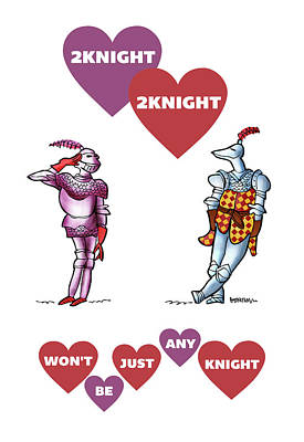 Digital Art - Two Knight Two Knight by Mark Armstrong