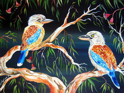 Painting - Two Kookaburras by Roberto Gagliardi