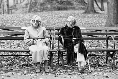 Photograph - Two Ladies On Bench by Dave Beckerman
