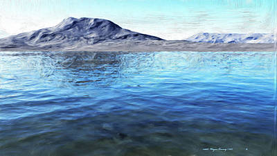 Painting - Two Lakes by Wayne Bonney