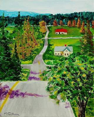 Painting - Two Lane Highway by Mike Caitham