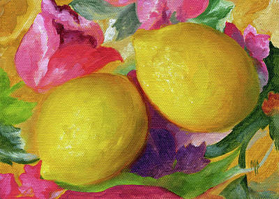 Painting - Two Lemons by Marina Petro
