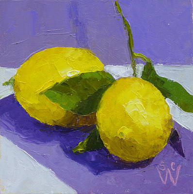 Painting - Two Lemons by Susan Woodward