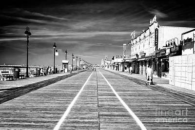 Photograph - Two Lines On The Boardwalk by John Rizzuto