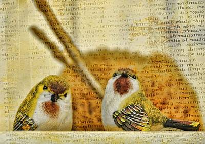 Photograph - Two Little Birds by Jan Amiss Photography