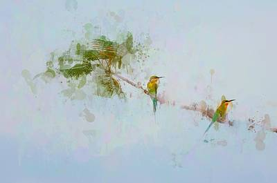 Two Little Birds Art Print by Kamarulzaman Russali