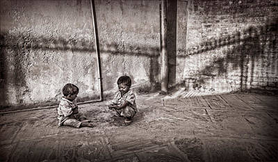 Photograph - Two Little Boys by Marty Garland