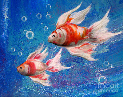 Painting - Two Little Fishies by Patrice Torrillo