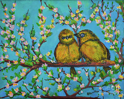 Painting - Two Little Tweets by Olga Hamilton