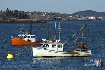 Photograph - Two Lobster Boats by Alana Ranney