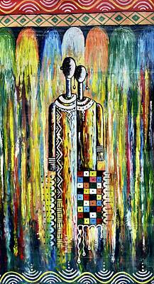 Painting - Two Loves by Femi
