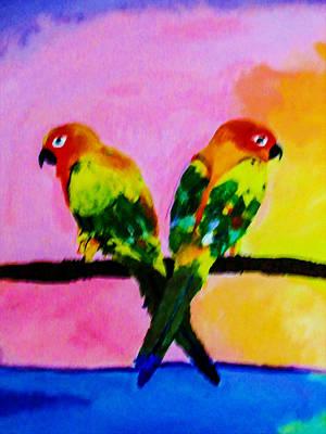 Two Loving Birds Art Print by Lanjee Chee