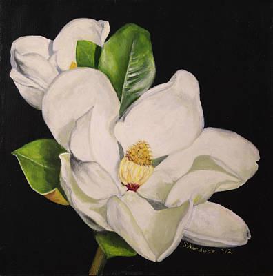 Two Magnolias Art Print by Sandra Nardone