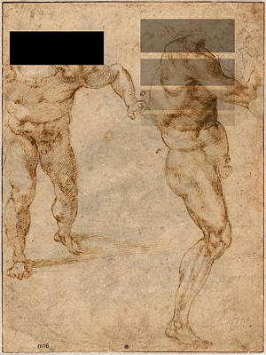 Digital Art - Two Male Nudes Revisited by D A Metrov