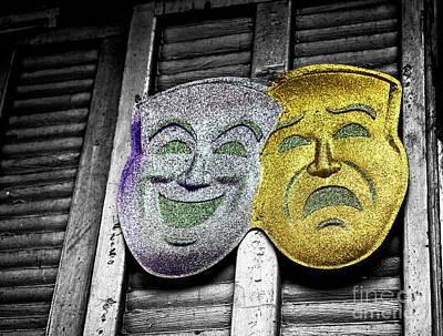 Photograph - Two Masks Fusion by John Rizzuto